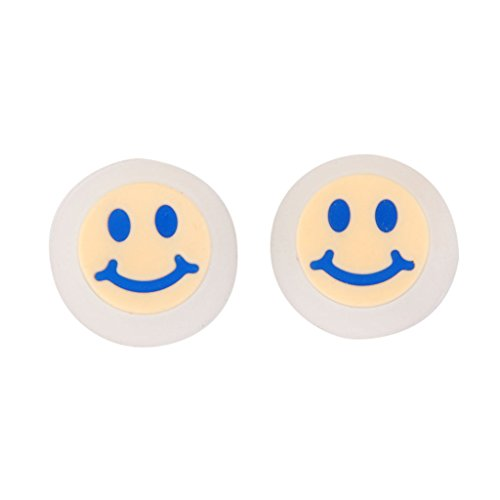 2pz tappi joystick per sony ps4 ps3 controller con motivo emoticon sorriso - azzurro