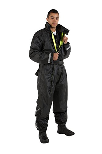 ViPER Rider Motorcycle Waterproofs Hydro 1PC WP Suit, Plain Black, L/42 - Schwarz Plain Anzug