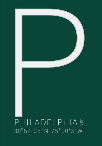 Philadelphia Minimalist Typography with GPS Coordinates of Lincoln Financial Field Notebook: 7x10 Ruled Notebook Journal for Philadelphia Eagle Fans por Penelope Pewter