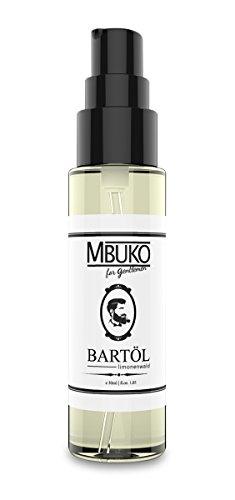 MBUKO Bartöl Limonenwald 30ml | Premium Qualität | mit praktischem Pump-Spender