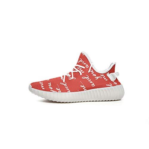CCL8, Scarpe da Ginnastica Unisex per Ragazzo - Sneakers Sportive con Scritte Casual estive Antiscivolo, Scarpe da Tennis Traspiranti e Confortevoli, Bianco (Bianco), 41 EU