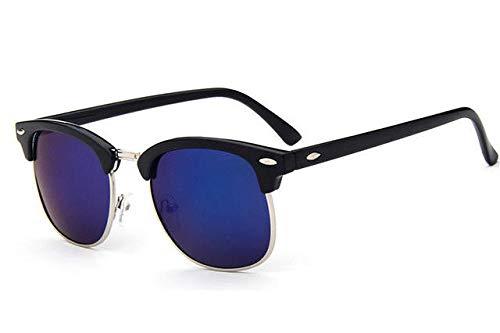 GY-HHHH Klassisches Retro-Outdoor-EssentialMetall Sonnenbrille Männlich/Weiblich Markendesigner Nieten Hochwertige Objektiv Sonnenbrille Women's Eyes_Blue 2