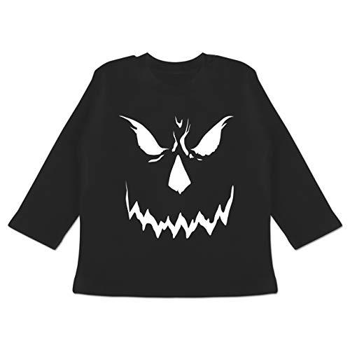 Anlässe Baby - Scary Smile Halloween Kostüm - 12-18 Monate - Schwarz - BZ11 - Baby T-Shirt Langarm