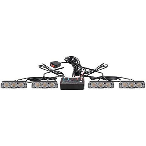 biaochi coche automático ultra slim LED 6modos de Flash 12V 9W peligro seguridad de emergencia Advertencia linterna parrilla Dash cubierta Barra de luz estroboscópica lámpara km350–4