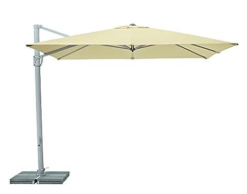 Suncomfort by Glatz Sunflex, ecru, 300x300 cm quadratisch, Gestell Aluminium, Bespannung Polyester, 28 kg