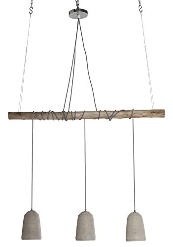 Kare Design Hängeleuchte Dining Concrete, Pendelleuchte, höhenverstellbare Hängelampen im...