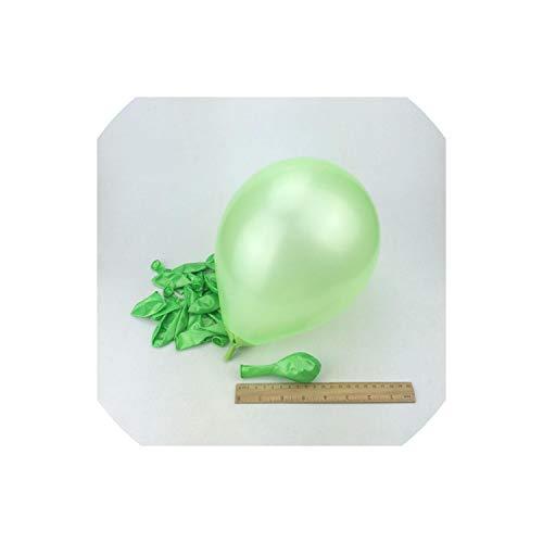 Sobre-mesa 10 pcs 1.5g Latex Balloons 21 Color Balloons Hot Air Baloon Inflatable Balloon Happy Birthday Decorations,Light Green
