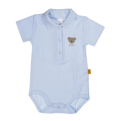 Steiff Steiff Unisex - Baby Body 0008703 1/2 Arm, Einfarbig, Gr. 56, Blau (Steiff Baby Blue)