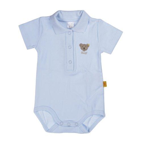 Steiff Unisex - Baby Body 0008703 1/2 Arm, Einfarbig, Gr. 98, Blau (Steiff Baby Blue) Preisvergleich