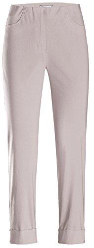 Stehmann IGOR-680 14060-124, sportive Damenhose mit aufgesetzten Taschen und Aufschlag, 6/8 Länge, Größe 38, Farbe Kalk (Tasche Von Kalk)
