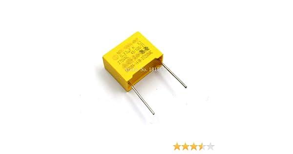 10PCS//LOT conDensateur de s/écurit/é 275VAC nominal 334 0,33 UF 275V Pitch 15mm capacit/é de conDensateur film