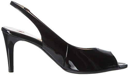 Högl 3 10 7104 0100, Sandales Bout Ouvert Femme Noir (Schwarz0100)