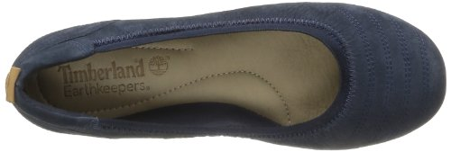 Timberland Earthkeepers Ek Elsworth Balrn Re Red Stitch Ballerina, Ballerines femme Bleu (Blue)