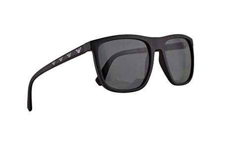 Emporio Armani EA4124 Sunglasses Matte Black w/Polarized Grey Lens 57mm 573381 EA 4124