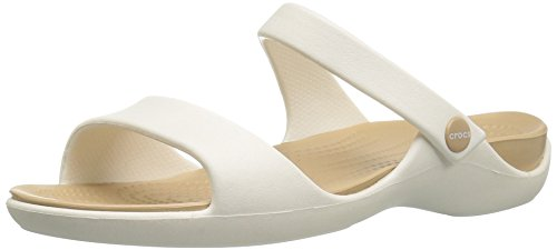 Crocs 204268, sandali donna, bianco (oyster/gold), 38-39