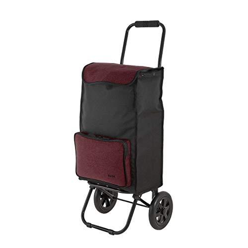 Rada Einkaufstrolley ER/1 40 Liter, robuster Marktroller, Einkaufswagen, Handwagen, mit 2 Rollen, wasserabweisender Transportwagen mit großen Rädern, (Bordeaux 2 Tone Cognac)