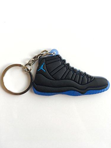 SneakerKeychainsNY Jordan Retro 11 Gamma - Llavero con Zapatillas Deportivas, Color Azul