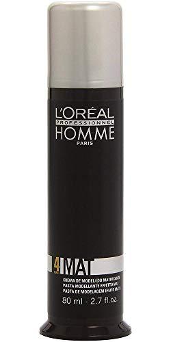 L'Oréal Professionnel Homme Mat Modellierpaste, 80 ml - Pommade Wachs Männer