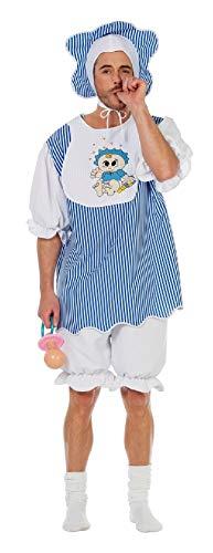 W5587-52 blau-weiß Herren Baby Boy Pyjama Kostüm Gr.52
