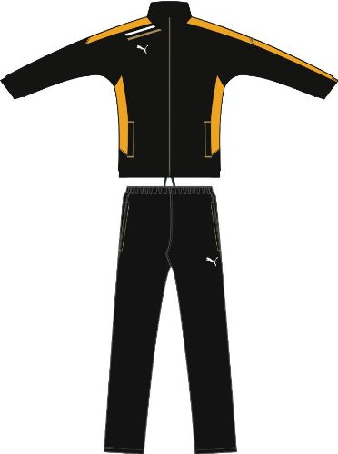 PUMA Trainingsanzug Esito Woven Suit black-team yellow, Größe Puma:116 -