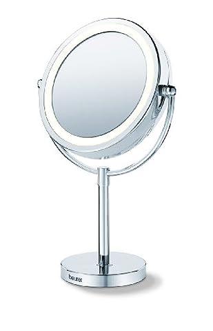 Miroir pour maquillage grossissant pivotant éclairé Beurer BS 69