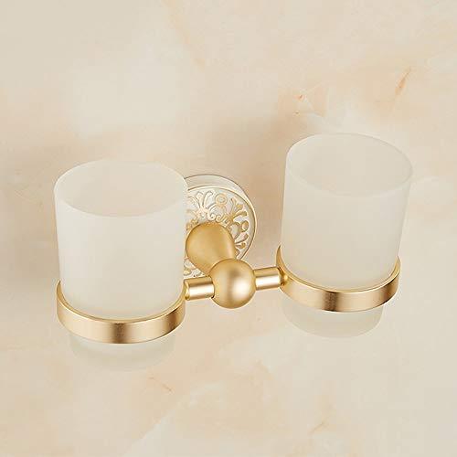 Europäische retro Raum Aluminium Doppel Tasse Becher Mund Tasse Pinsel Tasse Becherhalter gebacken weiße Farbe Gold Doppel Tasse antike Doppel Tasse -