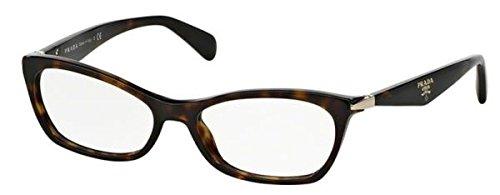 PRADA Brillengestell PR 15PV 2Au1O1 Havanna 55MM Prada Brillengestelle Männer