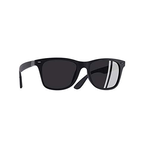 Sport-Sonnenbrillen, Vintage Sonnenbrillen, Polarized Sunglasses Men Women Fashion Rivet Driving Shades Square Frame Sun Glasses Mirror UV400 Oculos P21 C6