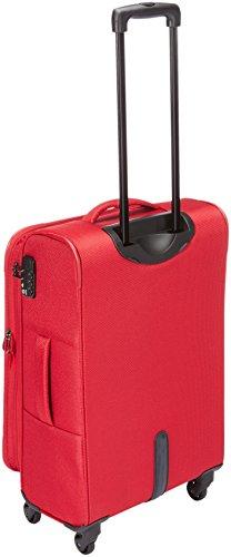 318TMMILq2L - Travelite DELTA Kofferset, 4 teilig, 4-Rad L/M, 2-Rad S, Bordtasche, Rot, 89240-10 Juego de maletas, 78 cm, 235 liters, Rojo (Rot)