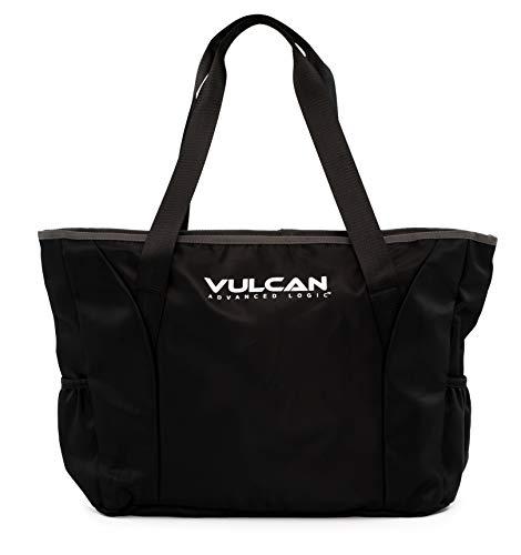 Vulcan Club Tragetasche für Tennisschläger, Damen, Club Tennis Tote (Black), schwarz