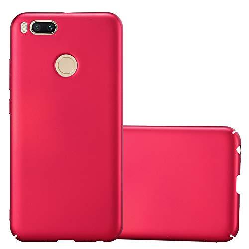 Cadorabo Funda para Xiaomi Mi A1 / 5X en Metal Rojo - Cubierta Protección de Plástico Duro Super Delgada e Inflexible con Antichoque - Case Cover Carcasa Protectora Ligera