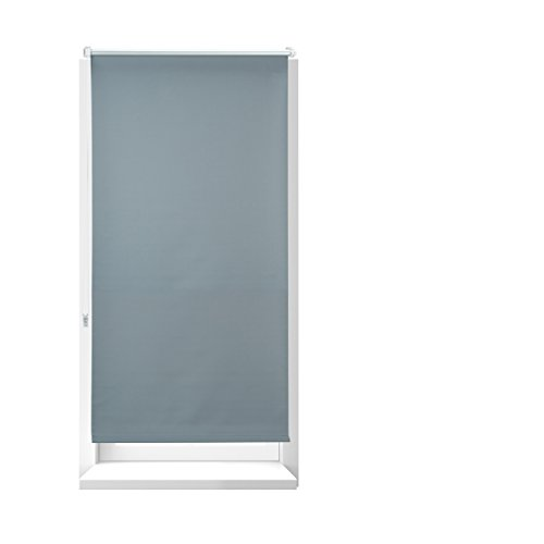 DEBEL 90 x 210 cm 100 Percent Polyester Uni Roller Blind Grey