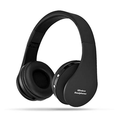 NX-8252 - Auricolari wireless Bluetooth stereo, pieghevoli Nero