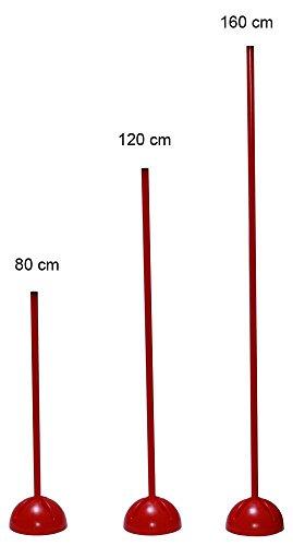 Boje Sport Slalomstange mit befüllbarem X-Standfuß, Stange 160 cm - Farbe: rot