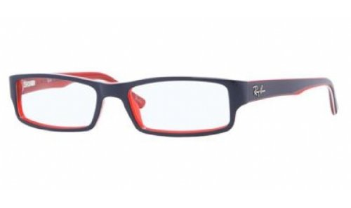 RAY BAN Brillengestell RB 5246 5088 Blau/Weiß/Rot 48MM