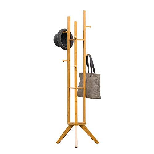 Chengzuoqing-Home Garderobe 6 Fett Haken Kleiderständer Baum Stilvolle Holzhut Garderobe Ständer 167 cm Holzgarderobe Ständer Rack Kleidung Jacke Lagerung Stabilität der Garderobe (Rack, Kleidung Ständer)