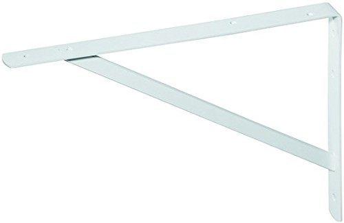 Console per carico pesante / mensola di supporto sparta 3 misure 2 colori con angoli di supporto saldati - bianco, 400 x 250 x 30 mm