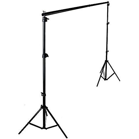 PMS® 2.8 x 3m Sistema de Soporte para Fondo de Estudio Fotográfia fotográfico vídeo de Foto y Vídeo con Barra