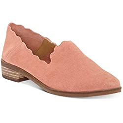 Lucky Brand Mujeres Chaslie Piel Mocasín, Canyon Rose, Talla 6.5