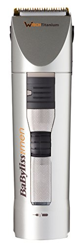 babyliss e780e - 318TU7AqNQL - BaByliss E780E Hair & Beard Clipper, Washable, W-tech Titanium Technology
