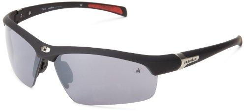 Ironman Principle Semi-Rimless Sunglasses,Matte Black Rubberized,159 mm