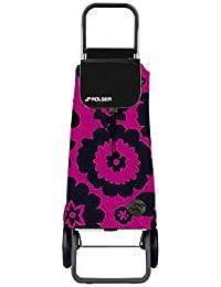 Rolser Carro Pack Flor 2 Ruedas Plegable - Fucsia/Negro