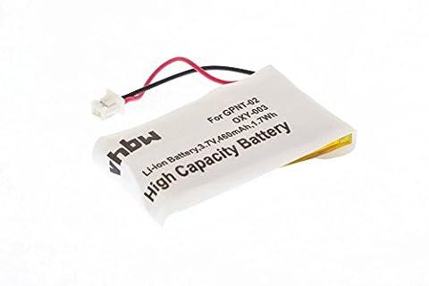 vhbw Li-Ion Akku 460mAh (3.7V) für Spielekonsole, Gamepad Nintendo GameBoy Micro, OXY-001 wie GPNT-02,