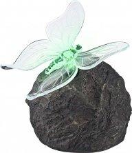 Rock Lampe (Globo LED Funktion Outdoor Solar Rock mit Schmetterling Lampe)
