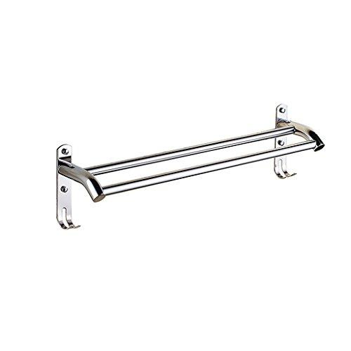 Haute qualité SUS 304 Porte-serviettes en acier inoxydable en acier inoxydable Ensemble de serviettes de finition poli pour la salle de bain ou la cuisine avec crochet (5 tailles) Porte-serviette ( taille : 40 cm )