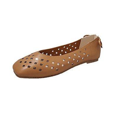 SHOESHAOGE Les Femmes&#039;S Appartements D'Été Confort Décontracté Chaussures De Marche Pu Bowknot Blanc Beige Marron Talon Plat 2In-2 3/4 Brown