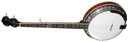 Stagg BJM30 Bluegrass Banjo Deluxe mit Metalltopf 6 Saiten, Linkshänder chrome