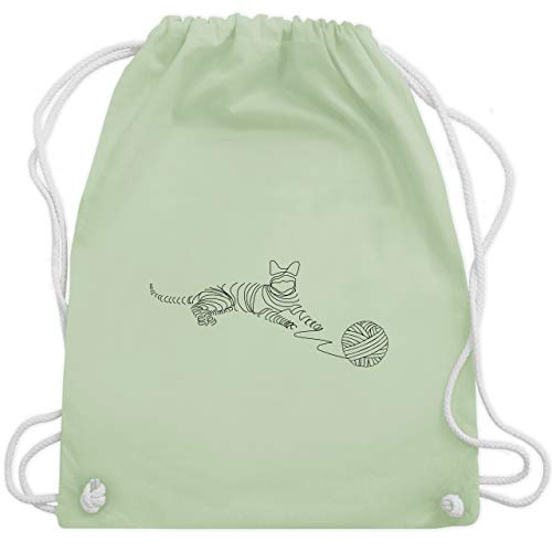 Tiermotive Kind - I love cats - Unisize - Pastell Grün - WM110 - Turnbeutel & Gym Bag