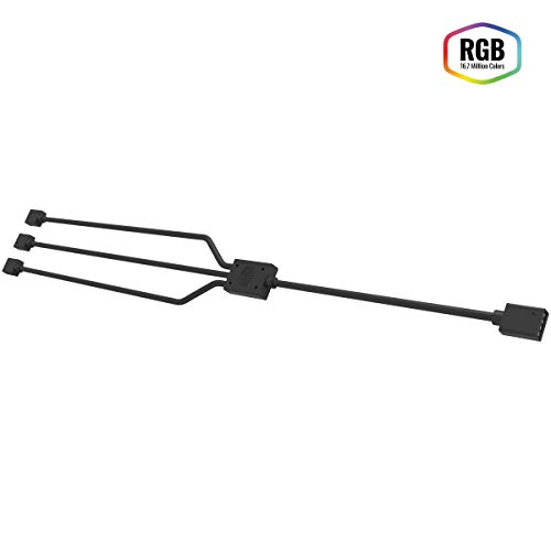 Cooler Master 1-to-3 RGB Splitter Cable PC-Gehäuse Zubehörteil 'mehrere RGB Geräte anschließen, Daisy-Chaining Capability, 4-Pin AND 5-Pin Header Kompatibilität' R4-ACCY-RGBS-R2