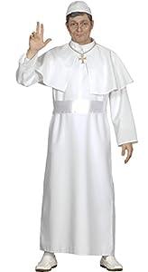FIESTAS GUIRCA Túnica Blanca para Adultos Papa Traje Talla única